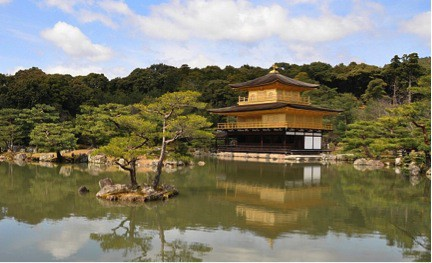 Another amazing garden I frequently use for inspiration is the Golden Pavilion (Rokuonji) in Japan. This is an amazing example of a Japanese garden. Its meandering path offers surprises around every turn.