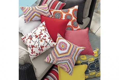 Red Sunbrella Fabric Pillows available at Crate  Barrel