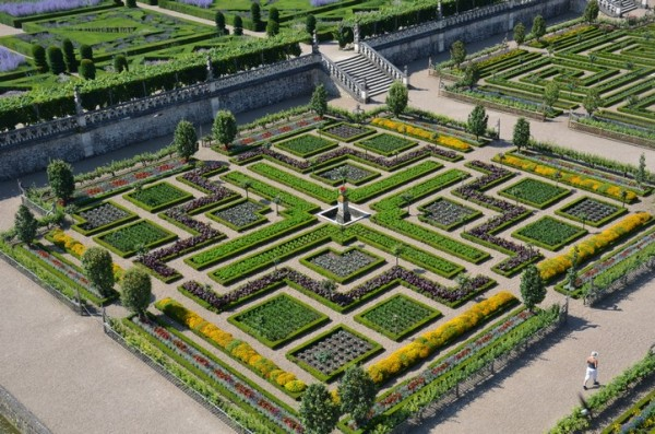 formal harvest garden in france - Garden Design Birds Eye View