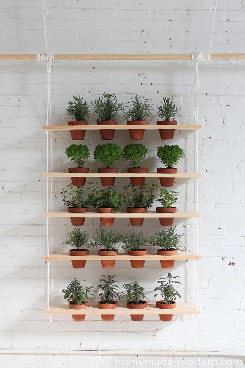 Charmant Modern Hanging Herb Garden
