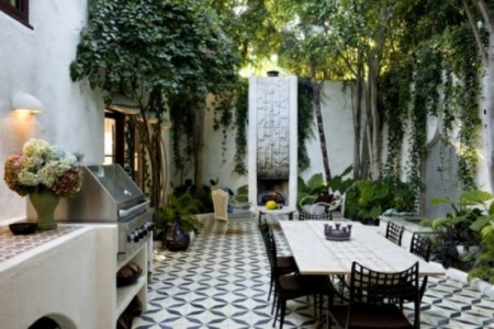 Black And White Outdoor Dining