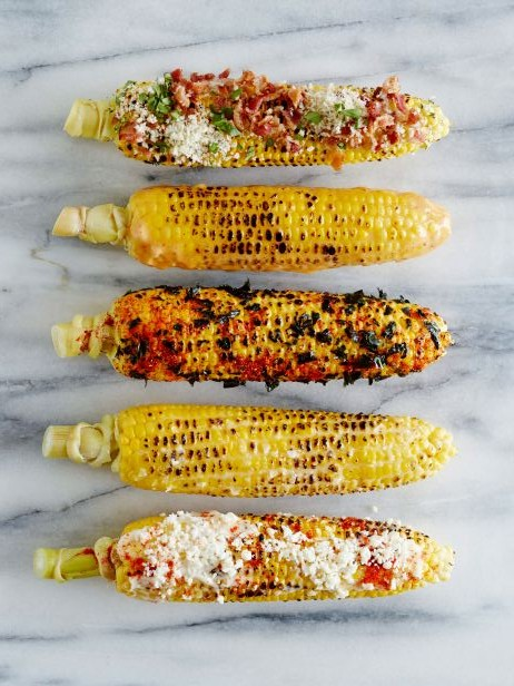 Corn on the Cob Served 5 Ways - 4th of July Ideas