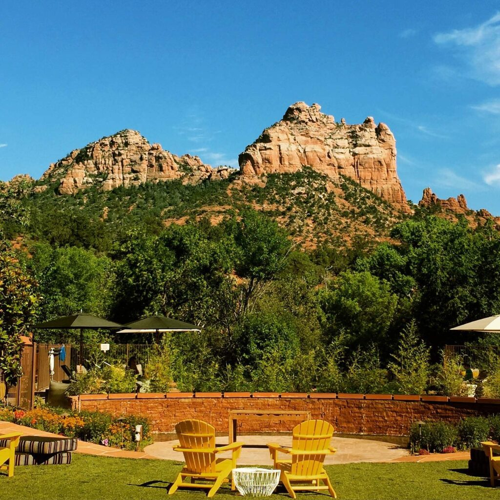 View from Pool at Amara, Sedona, AZ.
