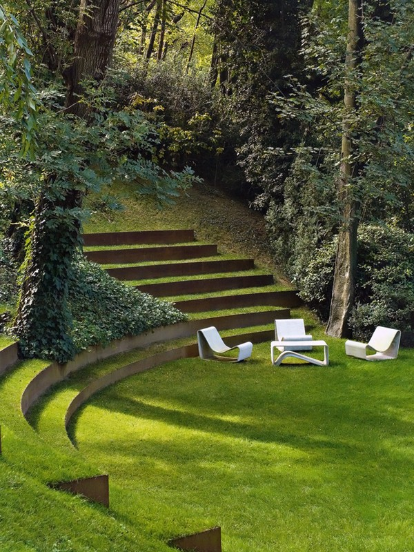 Landscape ideas - Grade change - Lawn Steps