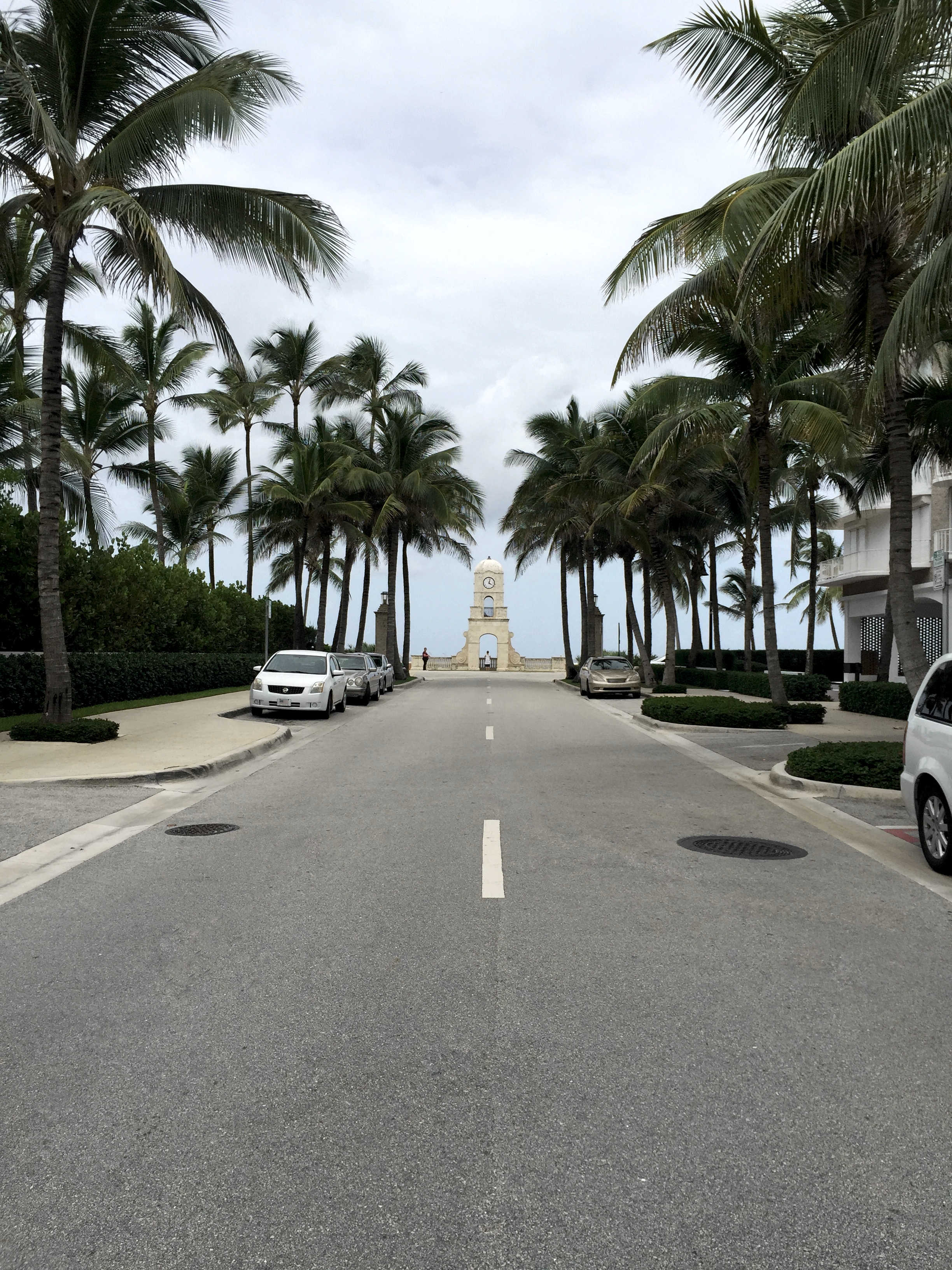 Worth Ave - Clock Tower - Street View - Palm Trees - Palm Beach