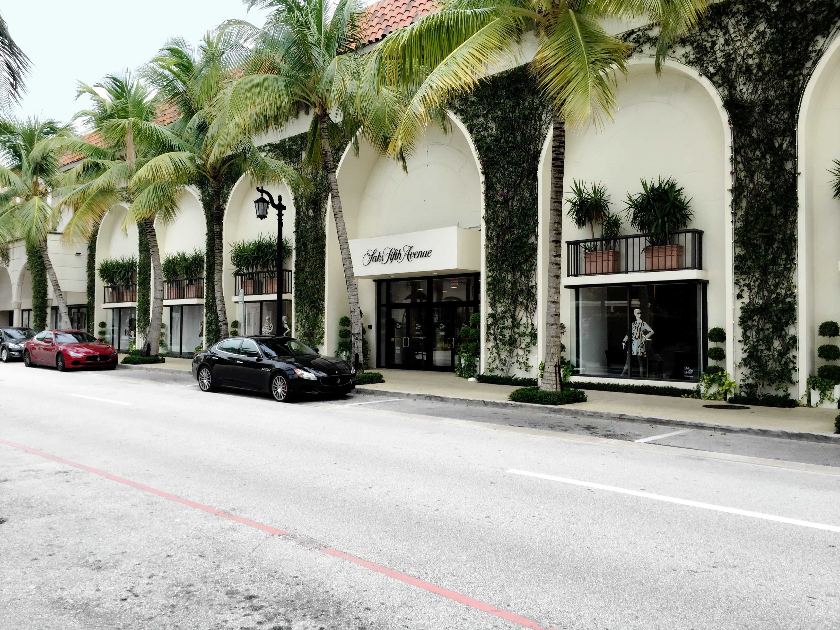 Worth Ave - Palm Beach - High End Retail - Espalier Vines - Landscape Design