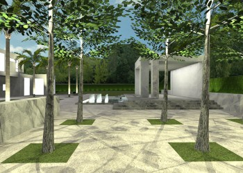 Contemporary India Inspired Landscape Design