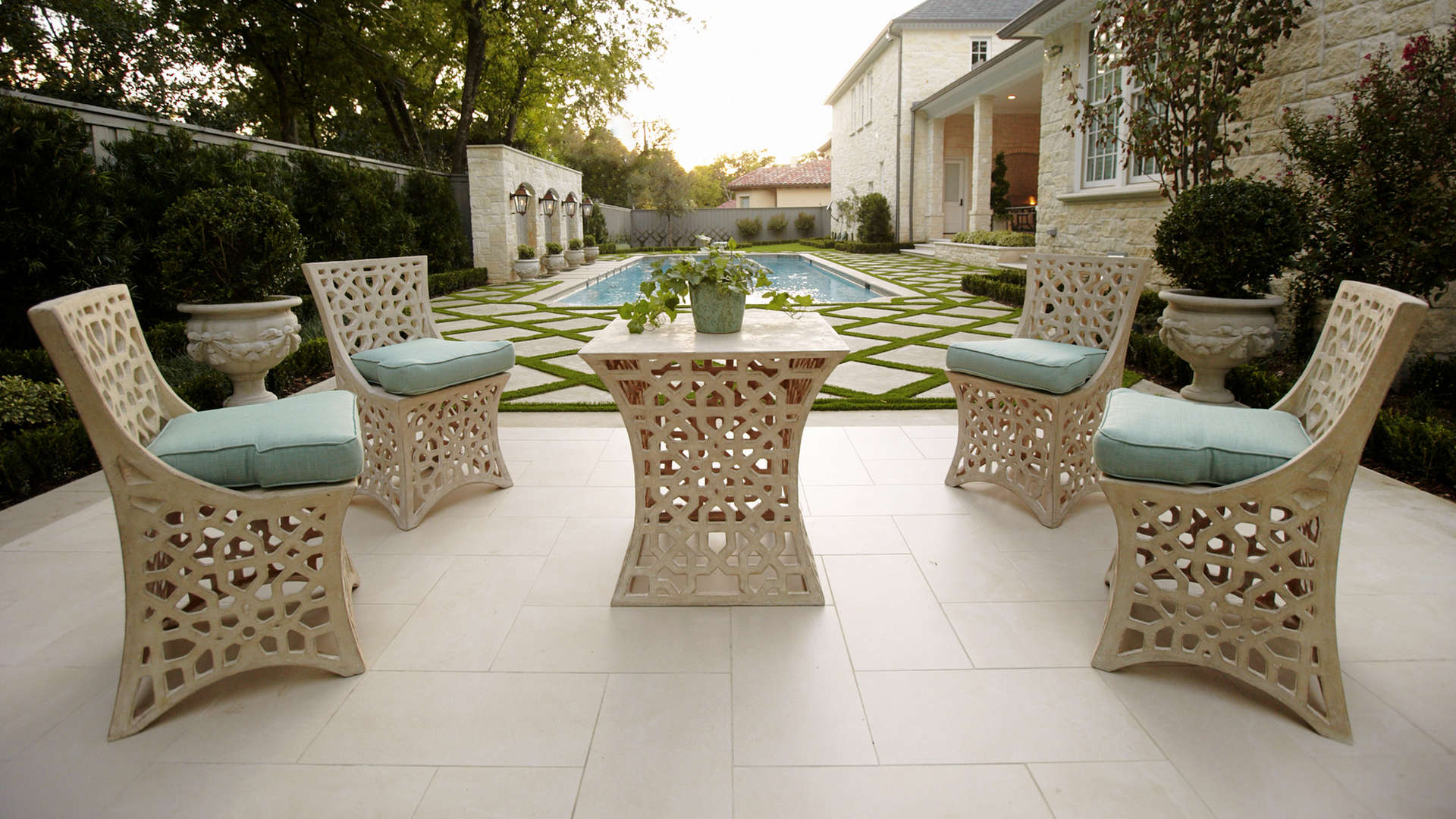Enhance outdoor living experience. Parisian Style Landscape - Landscape Design - Dallas, Texas