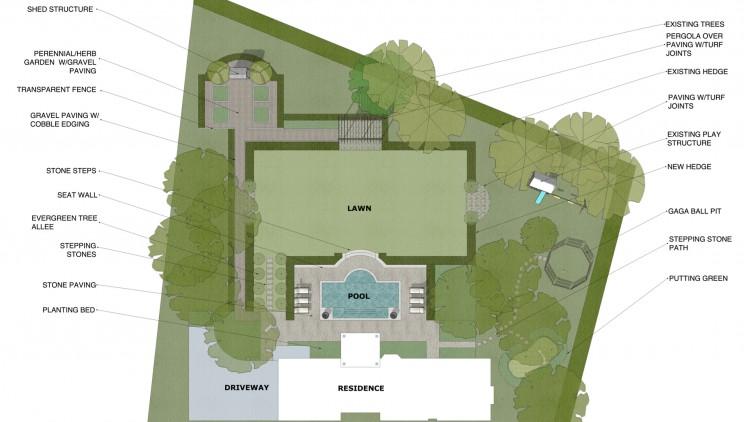 landscape design - conceptual schematic design
