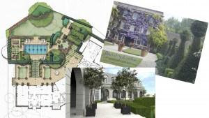 Landscape Design - Conceptual Design - 3d Rendering, Landscape Plan, Drawing