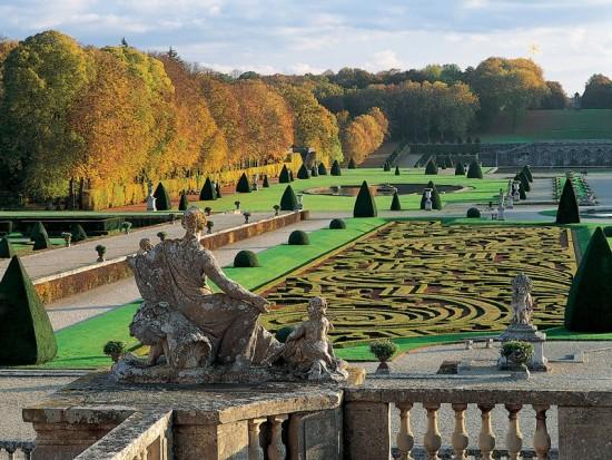 Formal statuary garden in France
