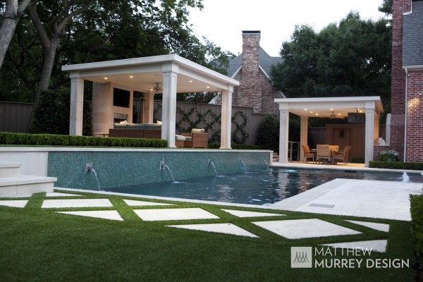 Transitional Garden Pool Cabana Golf