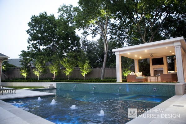 Transitional Contemporary Pool