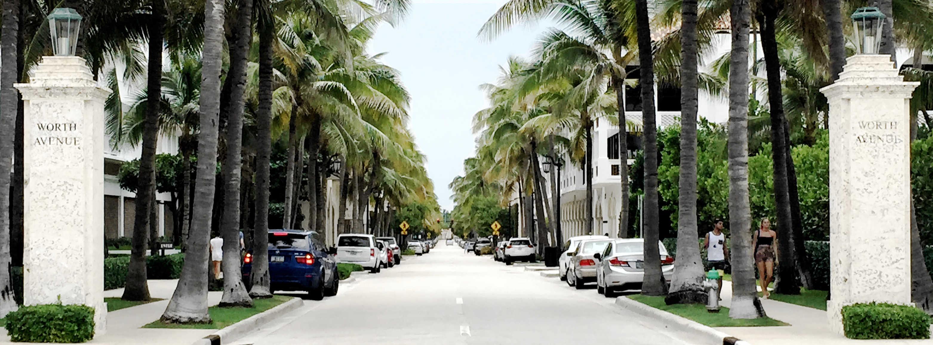 Entrance to Worth Avenue - Palm Beach, Florida