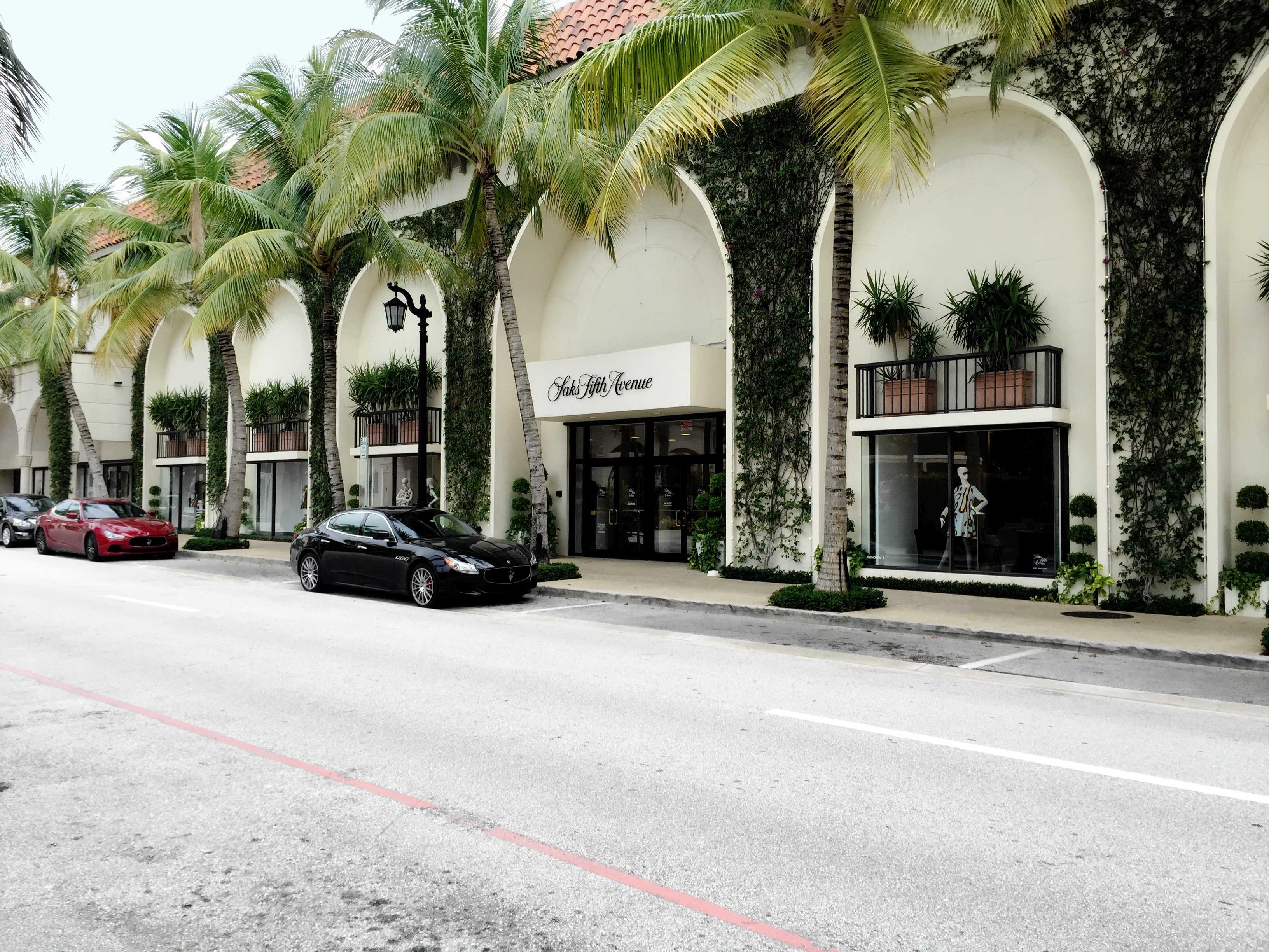 Worth Ave - Palm Beach - High End Retail - Espalier Vines - Landscape Design