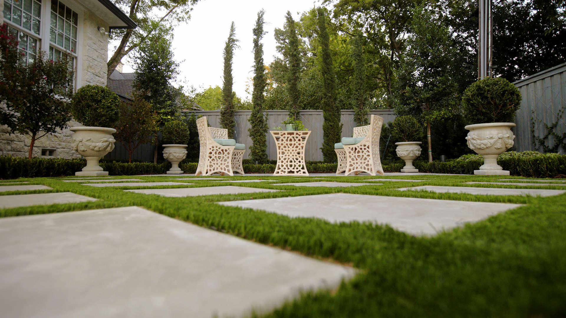 Parisian Style Landscape Design Dallas Texas
