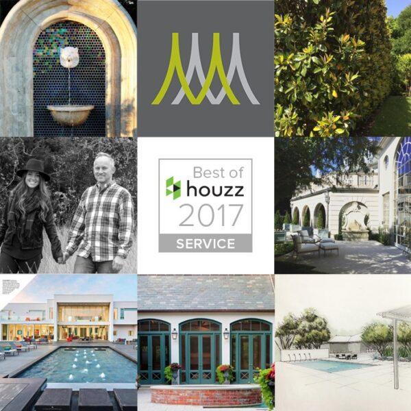 Matthew Murrey Design Awarded Best of Customer Service on Houzz 2017 – Residential Landscape Design