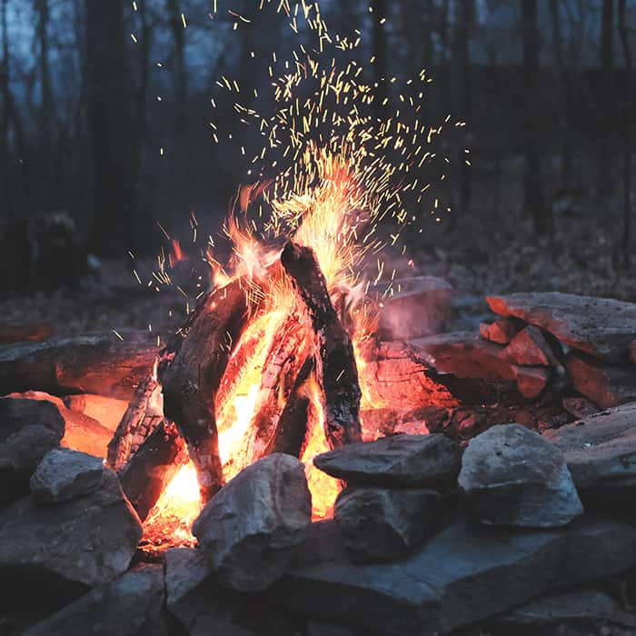 wood burning outdoor fire pit